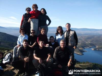 Cancho de la Cabeza - Embalse del Atazar - Senda Genaro GR300 - senderistas; rutas y senderismo madr